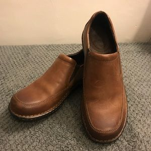 BORN Brown Leather Slip On Loafers